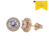 Meilyn Anting Tusuk Mata Bulat Gigi 4 Ring Gold 0251200026