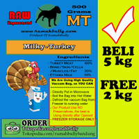PROMO OKTOBER - MILKY TURKEY- BELI 5KG FREE 2KG - DOGFOOD/CATFOOD/RAW