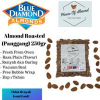 Roasted Almond Premium (Panggang) kacang almond Blue Diamond 250gram