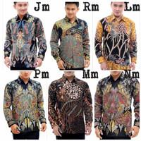 Kemeja Pria Batik Tulis Berfuring Baju Lengan Panjang