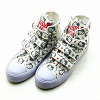sepatu boots anak perempuan cewek velcro converse all star hello kitty