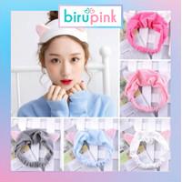 BiruPink Bandana Bando Motif Telinga Kucing Headband Model Telinga