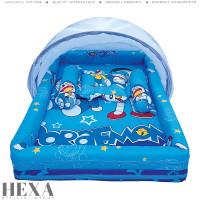 Kasur Tempat Tidur Bayi Kelambu Baby Nest Karakter Doraemon Biru Tebal