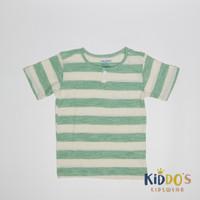 Baju Anak Kaos Cowok Baby Gap garis Hijau Tosca branded sisa Export