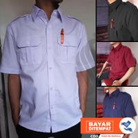 Kemeja PDL Pendek / Kemeja PDL putih / Seragam Baju PNS /Baju Lapangan