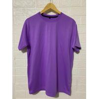 Kaos polos lengan pendek cotton pe 30s ungu lilac t shirt