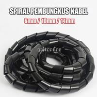 Selang Spiral Pembungkus Pelindung Kabel Organizer 6mm/10mm/14mm