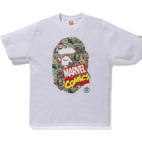 Kaos BAPE Head Marvel Comic White - XXL