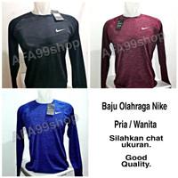 Baju Olahraga Nike Pria Wanita Lengan Panjang