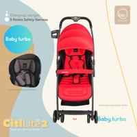 Baby Stroller BabyElle Citilite 2 S606 - Red