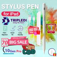TRIPLEDI Stylus Pen Active Gen 10 Apple Pencil 2 iPad Magnet Smart Tip