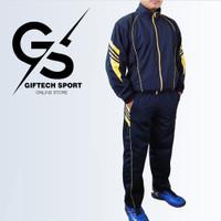 Setelan Olahraga Pria Jaket Training Baju Seragam Olahraga Stelan Lari