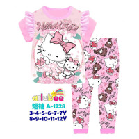 Baju Tidur Anak Cewek Hello Kitty size 3-7tahun
