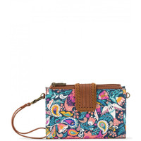 Sakroots Olympic Wallet Crossbody Teal Enchanted Forest