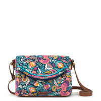 Sakroots Pacific Mini Crossbody Teal Enchanted Forest