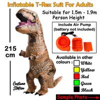 Kostum Dinosaurus T-rex Dewasa / Costume Trex angin - Cokelat
