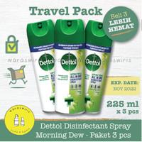 Dettol Disinfectant Spray Morning Dew 225 ml x 3 pcs