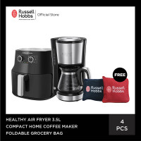 RH 3.5L Healthy Air Fryer - Compact Coffee Maker - Reusable Bag