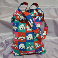[Tote Tali Panjang] Tote Bag Tali Panjang Full Print Motif Pet ARAC