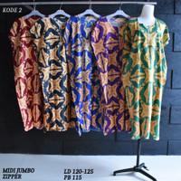 Grosir Daster Midi Jumbo Rayon Busui Zipper Murah Baju Tidur Kode 2