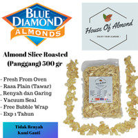 Kacang Almond Slice panggang (roasted/oven) 500gr