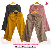 Celana Kulot Panjang Katun Rami/ Katun Linen