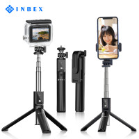 INBEX Tongsis Selfie Stick Mini Tripod Photograph Bluetooth Remote