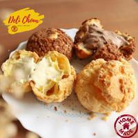 Delichoux Kue Sus Soes Korean Style food Choux Cream Puff Homemade - Vanila