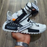 Sepatu Adidas NMD Human Race White Off White