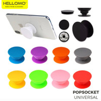 Popsocket Polos Pop Socket Phone Grip Colorful Stand Hp Universal - Putih