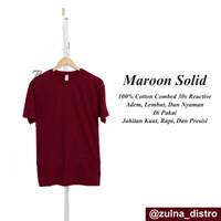 baju kaos polos distro bandung MAROON SOLID (merah hati solid)
