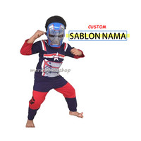Baju Anak / Stelan / Kostum Iron Man Blue Steel Ironman Biru
