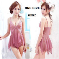 Baju tidur Leddish lingerie backless tipis impor