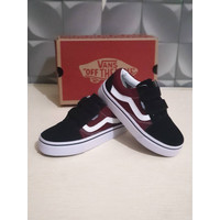 Sepatu Anak Laki Laki Vans Old Skool Maroon Black Grade Original BNIB