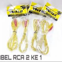 KABEL RCA AUDIO Male To RCA Aux 2 ke 1 2X1 1 KE 2 ( 1,5 METER )