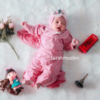gamis bayi perempuan set hijab newborn aqiqah baju muslim bayi anak