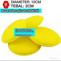 sponge aplicator pad bulat Busa poles body mobil dll