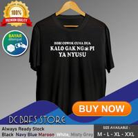 Baju Kaos Tshirt Pria Dewasa Distro Keren Premium Hobi Kopi Susu 01 - Putih, M