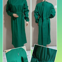 Baju medis APD Gown APD Long Gown Bahan Drill - Surgical Gown