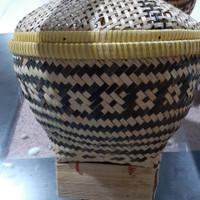 Bakul nasi bambu uk diameter 24 cm