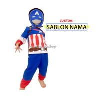 Baju Anak / Stelan / Kostum Captain America / Kapten Amerika