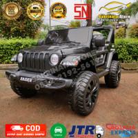 Mobil Aki Mainan Anak Murah Jeep Rubicon Ban Karet 4WD
