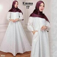 Gamis Wanita Polos Putih Maxi Dress Katun Maxy Busana Muslim Rok Lebar