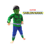 Baju Anak / Stelan / Kostum Hulk 1-10 th (3 in 1)
