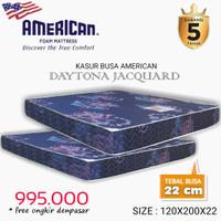 Kasur busa super merk American foam tyoe Daytona jacquard 120x200