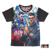 RizkiStore- Baju Kaos T-shirt Anak Laki-Laki / Baju Free Fire Dj Alok