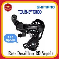 SHIMANO RD-TX800 RD TOURNEY 7/8 Speed Rear Derailleur Sepeda