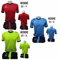 1 lusin/12 setel baju kaos olahraga jersey stelan futsal voley bola CI