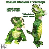 Kostum Dinosaur Triceratops / Costume Dinosaurus Green Triceratops