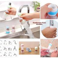 Sambungan Kran FLEXIBLE Filter Air Anti Splash Shower Keran air